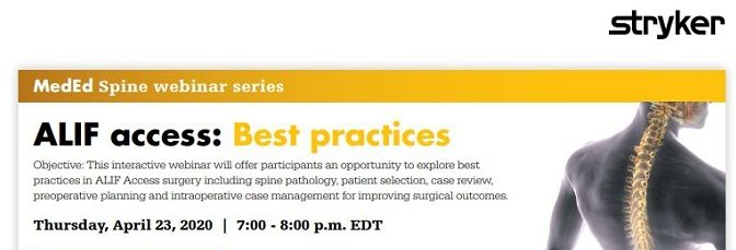 ALIF Best Practices 2020 Stryker Spine