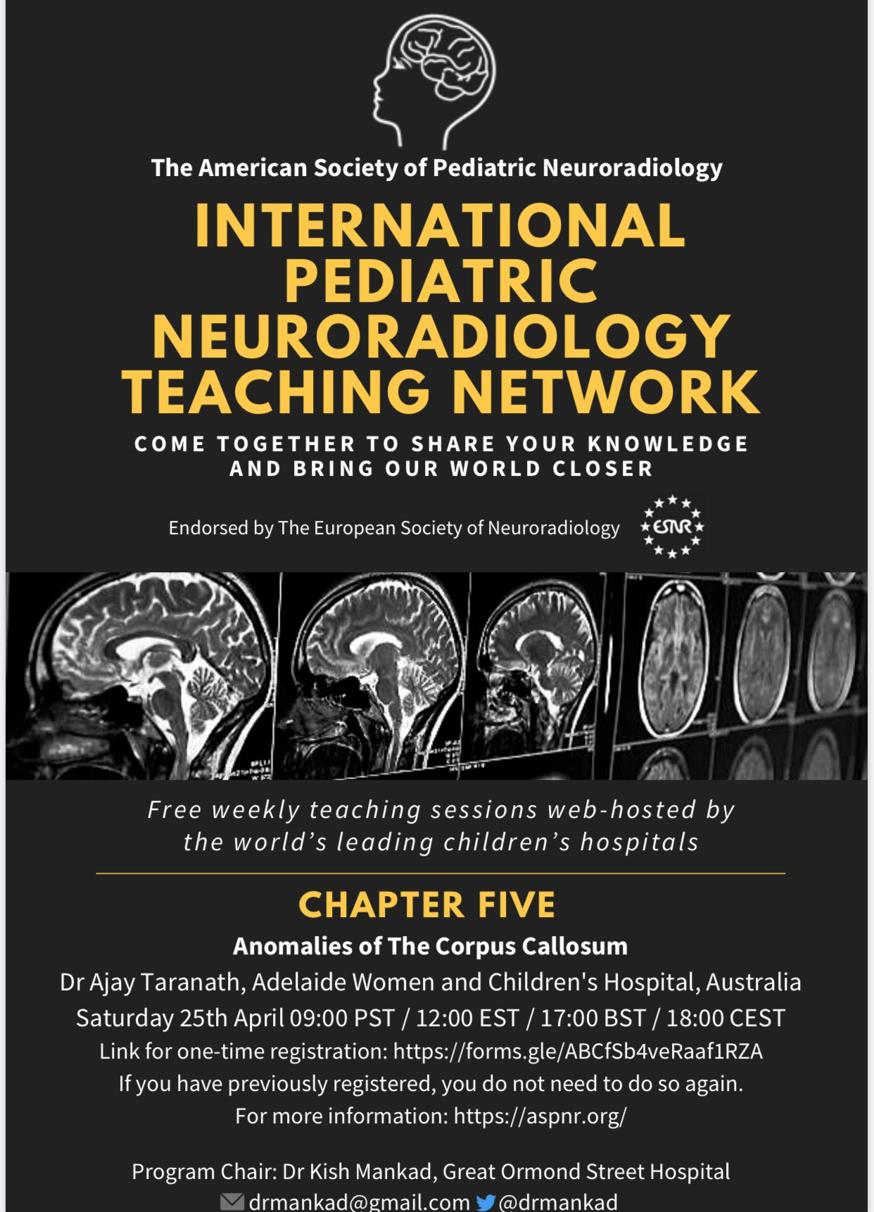 International Pediatric Neuroradiology Teaching Network Corpus Callosum Abnormalities