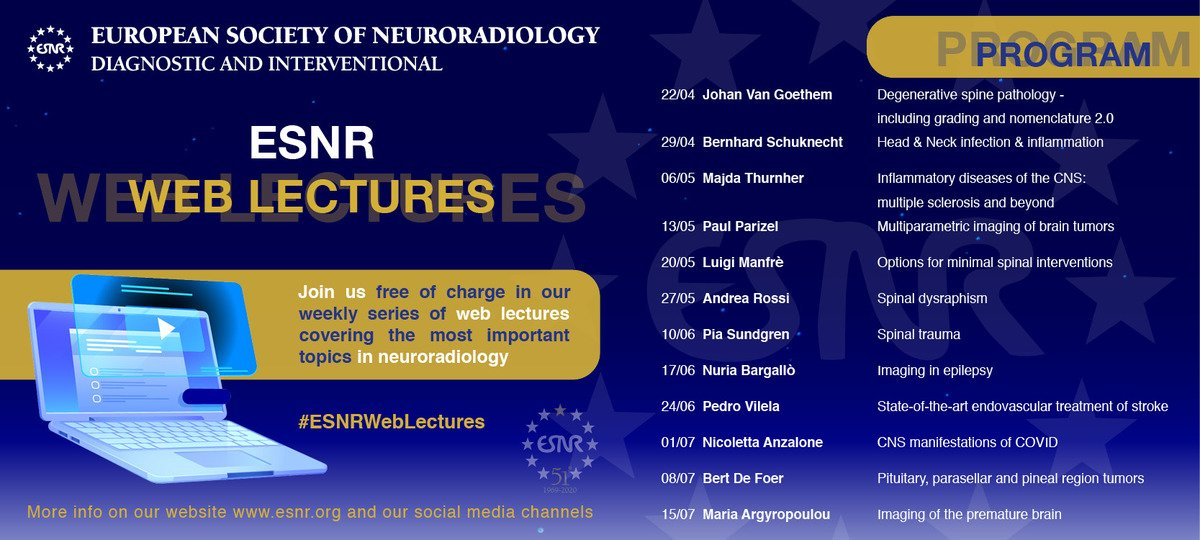 ESNR European Society of Neuroradiology Diagnostic and Interventional