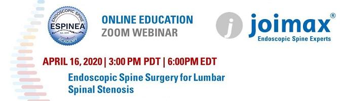 Endoscopic Spine Surgery Course 2020 neurosurgery course 2020
