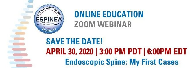 Endoscopic Spine Surgery course 2020