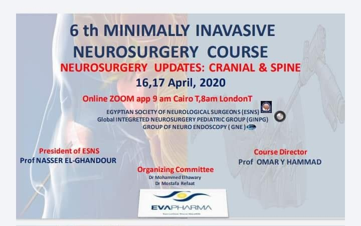 Minimally invasive Neurosurgery Course Cranial and Spine 2020