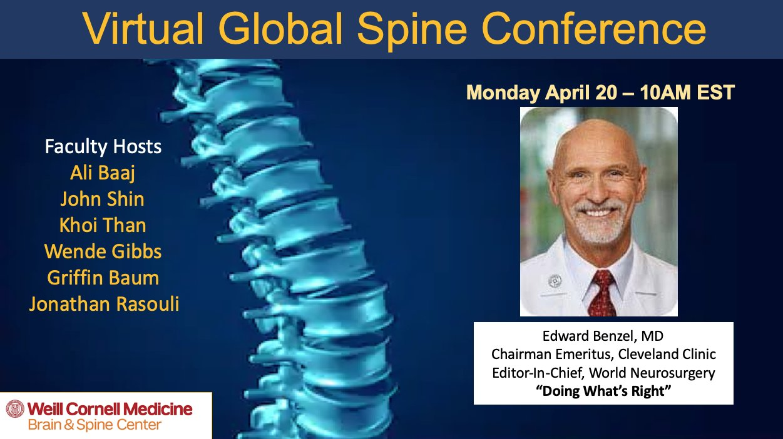 Virtual Global Spine Conference 2020 Edward Benzel
