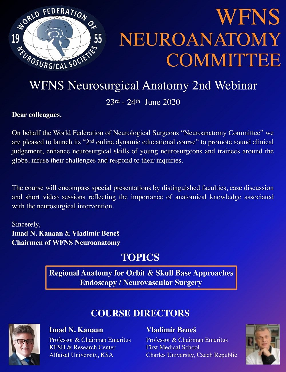 WFNS Neurosurgical Anatomy 2nd Live Webinar